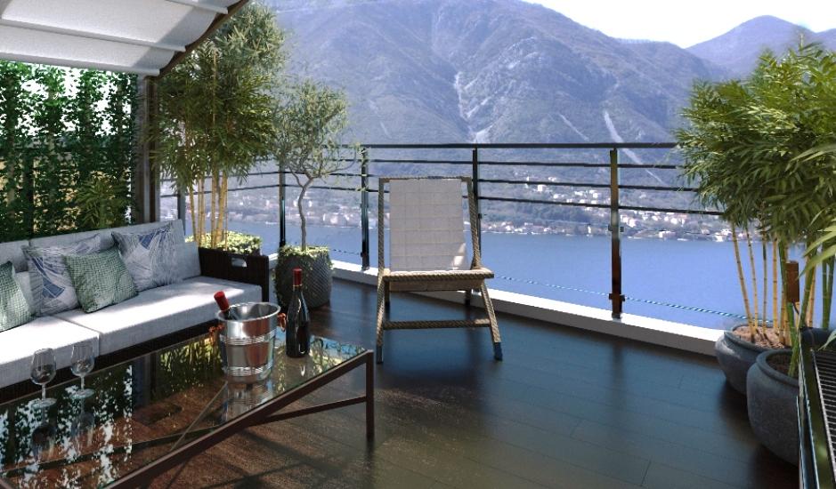 Двухуровневая квартира с видом на залив