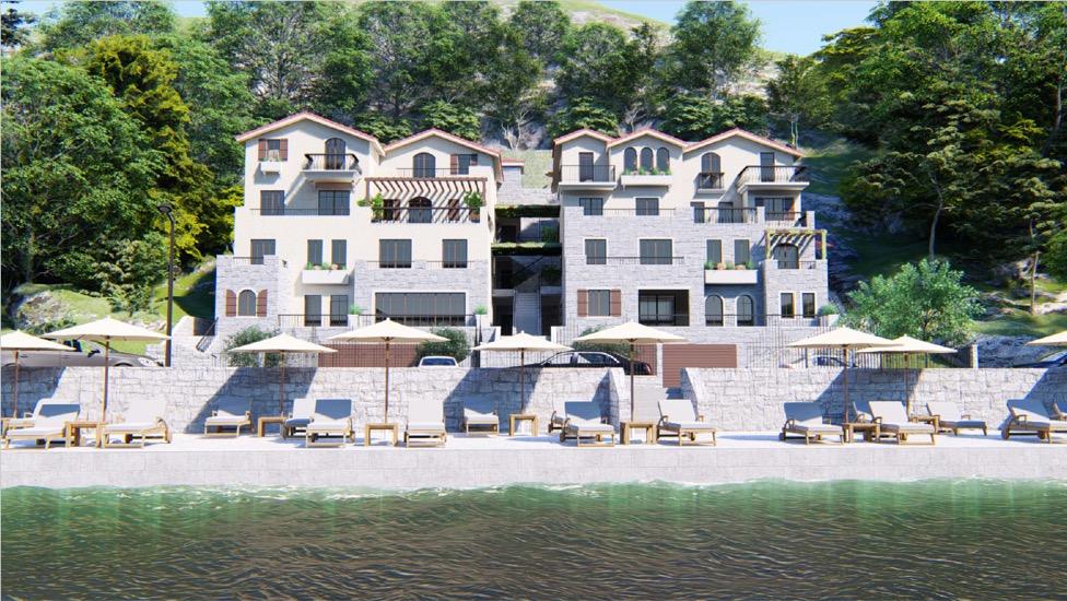 Новый жилой комплекс на первой линии в Тивате