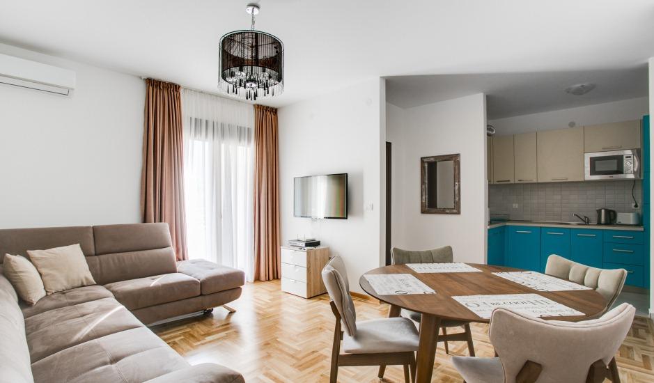 Сезонная аренда: квартиры с 1 спальней в новом доме в Бечичи