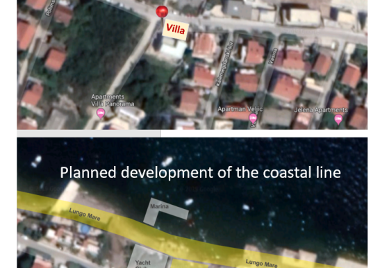 Planned development of the coastal line